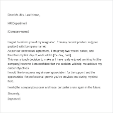 One Weeks Notice Letter Template Resignation Letter 1 Weeks Notice Onlineemily Info