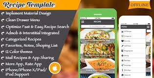 Food Recipe Template Multi Purpose Recipe Template For Ios By Expresstemplate Codecanyon