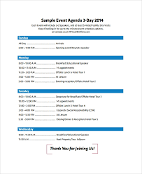 Agenda Outlines Templates Sample Event Agenda 7 Documents In Pdf Word