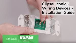 Clipsal Iconic Light Switch Clipsal Iconic Wiring Devices Installation Guide