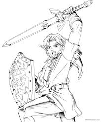 Princess zelda coloring page from the legend of zelda category. Legend Of Zelda Link Coloring Pages Free Printable Zelda Coloring Coloring Home