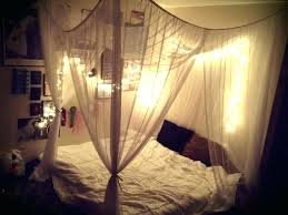 Bed Canopy With Lights Bedroom Large Size Of Over The Light Diy Tent ...