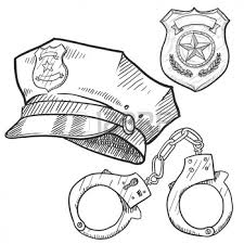 Small Picture Police Badge Colouring Pages Collegeprofession Logos with