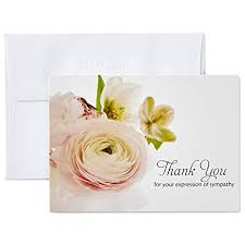 Thank You Sympathy Cards Hallmark Thank You For Your Sympathy Cards Soft Bouquet 20 Note Cards With Envelopes