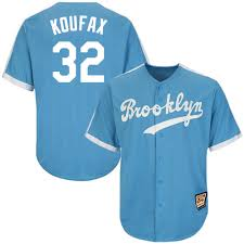 Angeles Sandy Mlb Jersey Koufax Replica 32 And Los Throwback Mitchell Ness Light Mens Dodgers Blue