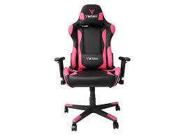 battlebull combat gaming chair black pink