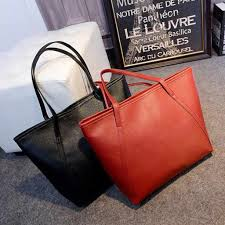 Maison Fabre Fashion Women PU <b>Solid Simple Big Capacity</b> ...