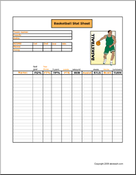 Basketball Stats Excel Template Free Printable Basketball Stat Sheet To Keep Track Of Players
