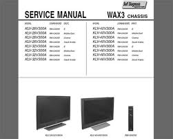 sony klv va klv va klv va klv va service this sony klv 26v300a klv 32v300a klv 40v300a klv 46v300a service manual and circuit diagram this service information is designed for experienced repair