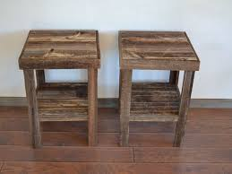home ideas reclaimed wood furniture plans. reclaimed brown barnwood end tables simple and beautiful accent to your home 24 tall 17 wide by deep perfect for any room in the house ideas wood furniture plans