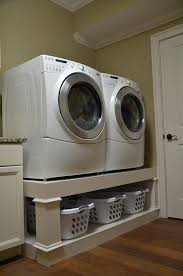 washer and dryer platform traditional laundry room base pedestals diy with