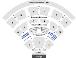 Coastal Music Park Seating Chart Coastal Credit Union Music Park At Walnut Creek Tickets With