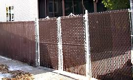 chain link fence slats brown. Chain Link Fence With Brown Slats C
