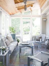 very small sunroom. Exellent Small Three Season Roomwrought Iron Furniture Painted A Beachy Gray Slate Tile  White Accents Throughout Very Small Sunroom S