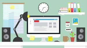 Cartoon Office Vector Flat Home Office Cartoon After Effect Animation Youtube