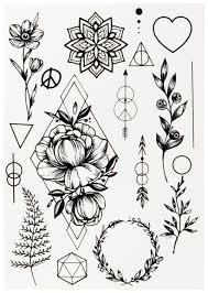купить переводные тату Miami Tattoos Black Tattoo Flora By