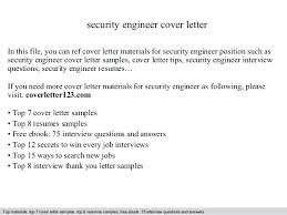 Sample Cover Letter Engineer Security Engineer Cover Letter In This