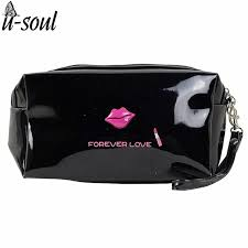 high quality patent leather makeup bag make up bags female zipper cosmetic bag lady cosmetic cases travel organizer bag sc0221kk