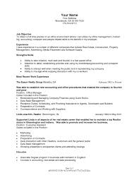 Template Full Time Real Estate Agent Resume Sample With Objective