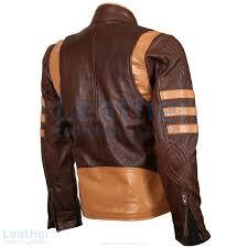 x men wolverine origins brown biker jacket