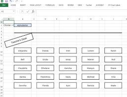Seating Chart Randomizer Classroom Seating Layout Spreadsheet Spreadsheetsolving