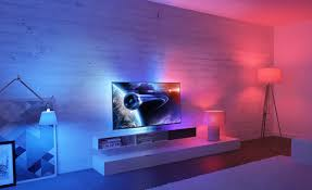 philips introduces ambilight on the tv integrated with the hue lamps
