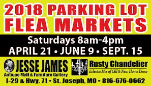 2018 parking lot flea markets
