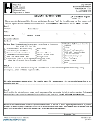 Template Customer Incident Report Form Template Health And Safety