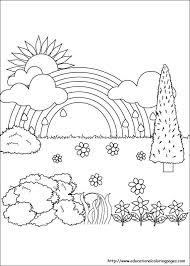 Nature Coloring Page Getcoloringpagescom