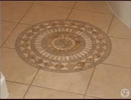 tile floor medallions on wood flooring cute porcelain intended for remodel 1