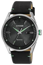 Lighted Dial Watches For Mens Cto Mens Eco Drive Bm6980 08e Green Accent Watch Citizen