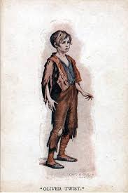 postcards of the past charles dickens oliver twist old postcard oliver twist