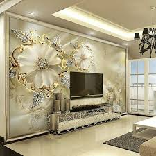3d gold flower diamond modern bling