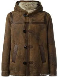 neil barrett brown shearling hooded short coat men s shipped free clothing z868795