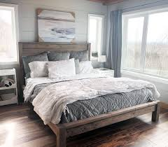modern style farmhouse bed diy plans by ana white com