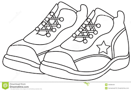 running shoes coloring page