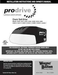 pdf wayne dalton prodrive 3222c z user manual 48 pages wayne dalton prodrive 3222c z user manual