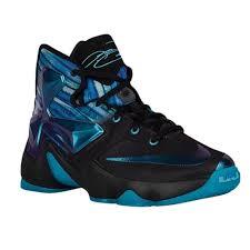 nike lebron xiii. nike lebron xiii - boys\u0027 grade school basketball shoes black/white/heritage cyan lebron xiii a