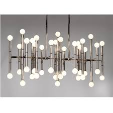meurice rectangle chandelier modern lighting jonathan adler photo