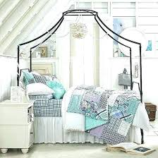 Wrought Iron Canopy Bed Frame Queen Model Metal – a-esthe