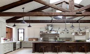 Kitchen Ceilings Ceiling With Wood Beams Kitchens With Vaulted Wood Ceilings And