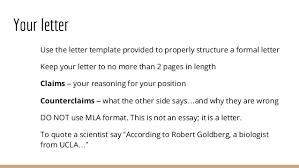 gmo argumentative essay a letter 16
