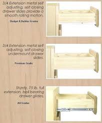 sliding drawers for kitchen cabinets how to install in unique cabinet drawer slides elegant hinges design