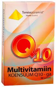 Таблетки мультивитаминов с <b>коэнзим Q10</b> N30 - Tervisepüramiid