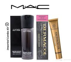 imported bo kit mac moisture infusion serum hydratant with dermacol foundation makeup kit 60 gm