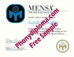 Fake Diploma Mensa Real Phonydiploma - Thing The From Looks com Like