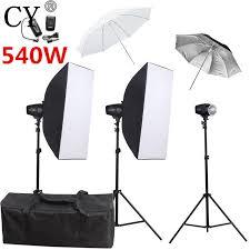 cy photography flash soft box lighting kits 220v 540ws storbe light softbox stand set photo studio