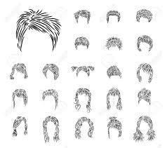 人間の女性 Hairdresses 黒ブラシからクリップ アート