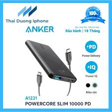 Pin sạc dự phòng ANKER PowerCore Slim 10000mAh PD - A1231
