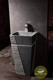 Marble pedestal sink Polished Carrara Black Marble Pedestal Sink The Ultimate Living Company Black Marble Pedestal Sink Marble Pedestal Sink Pinterest